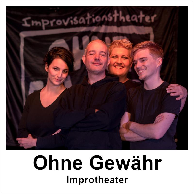 """Plakat """"Ohne Gewähr"""" - Improtheater"""