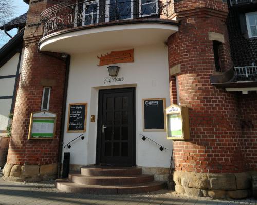 Eingang des Restaurants Jägerhaus