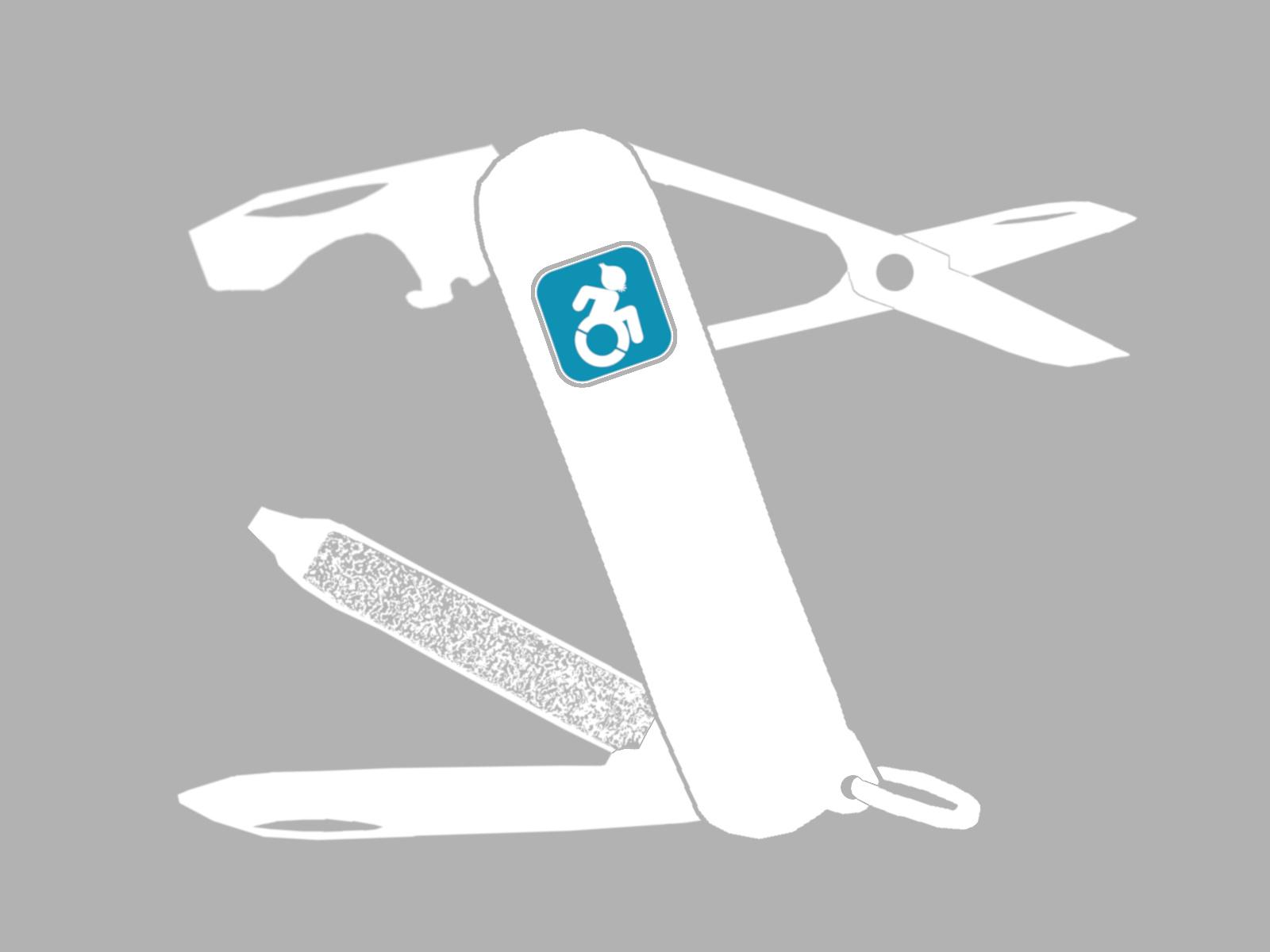 Klappmesser mit Logo von InklusivES