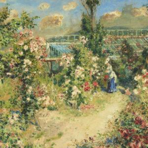 """Impressionistisches Gemälde """"Das Gewächshaus"""" von Pierre-Auguste Renoir"""