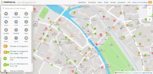 Wheelmap-Ausschnitt. Die Karte für Rollstuhlfahrer.